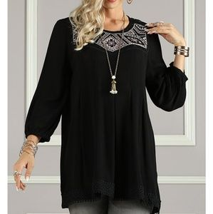 ▪︎(XL) Black Embroidered Tunic▪︎